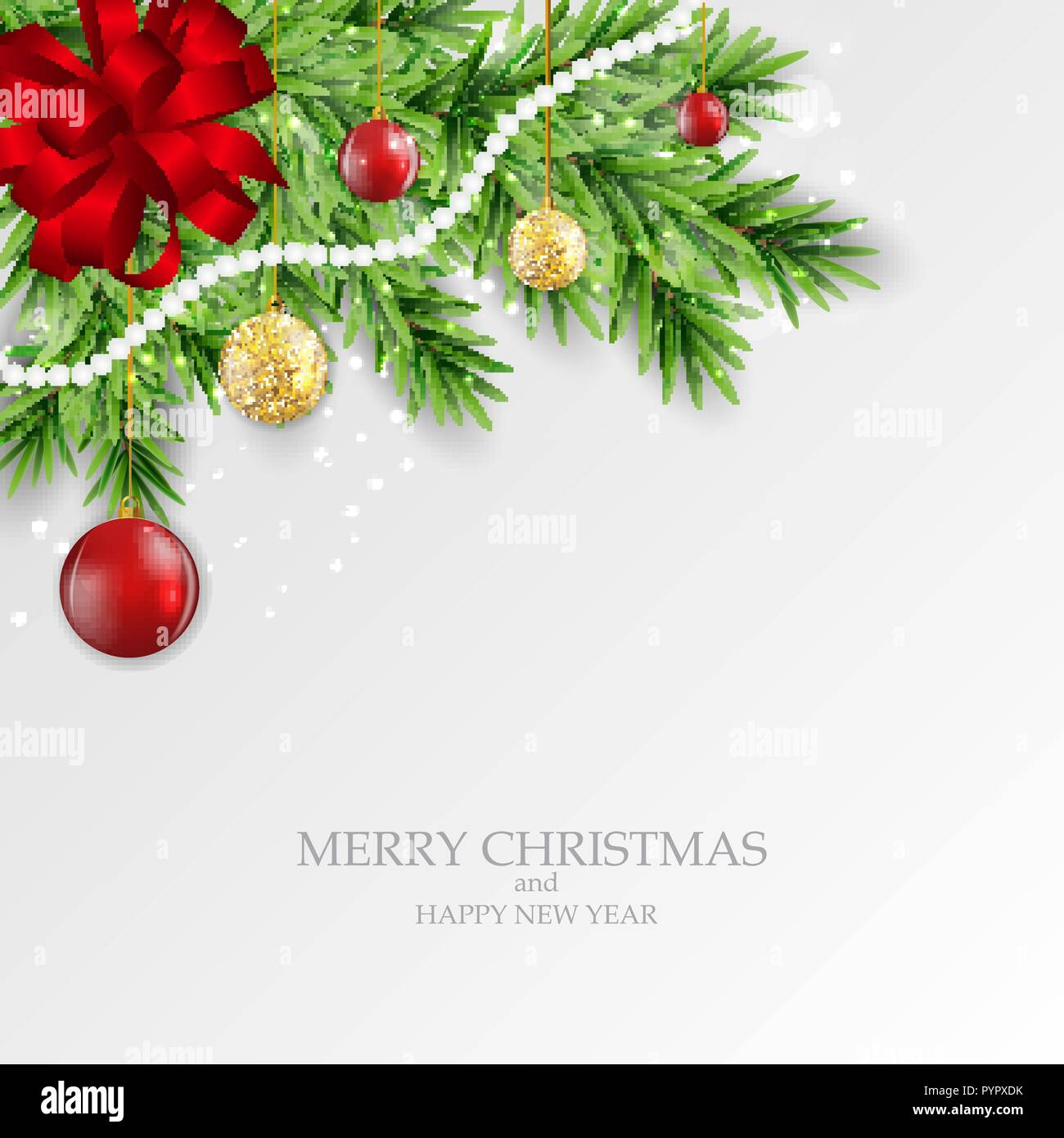 abstract holiday new year and merry christmas background vector illustration