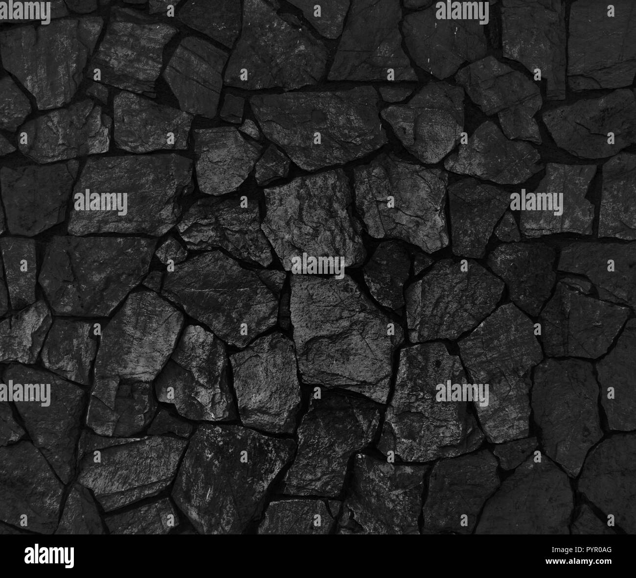 . Background of black stone wall texture Stock Photo  223625320   Alamy
