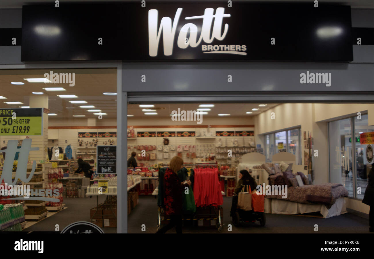 Watt Brothers department store, Clyde Shopping Centre, Clydebank, Scotland - Stock Image