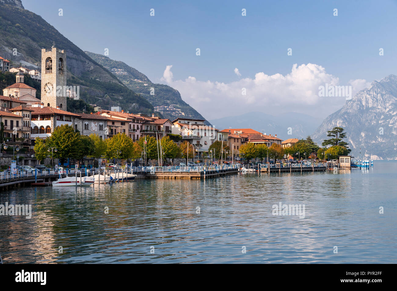 Tavernolo Bergamasca on Lake Iseo in northern Italy - Stock Image