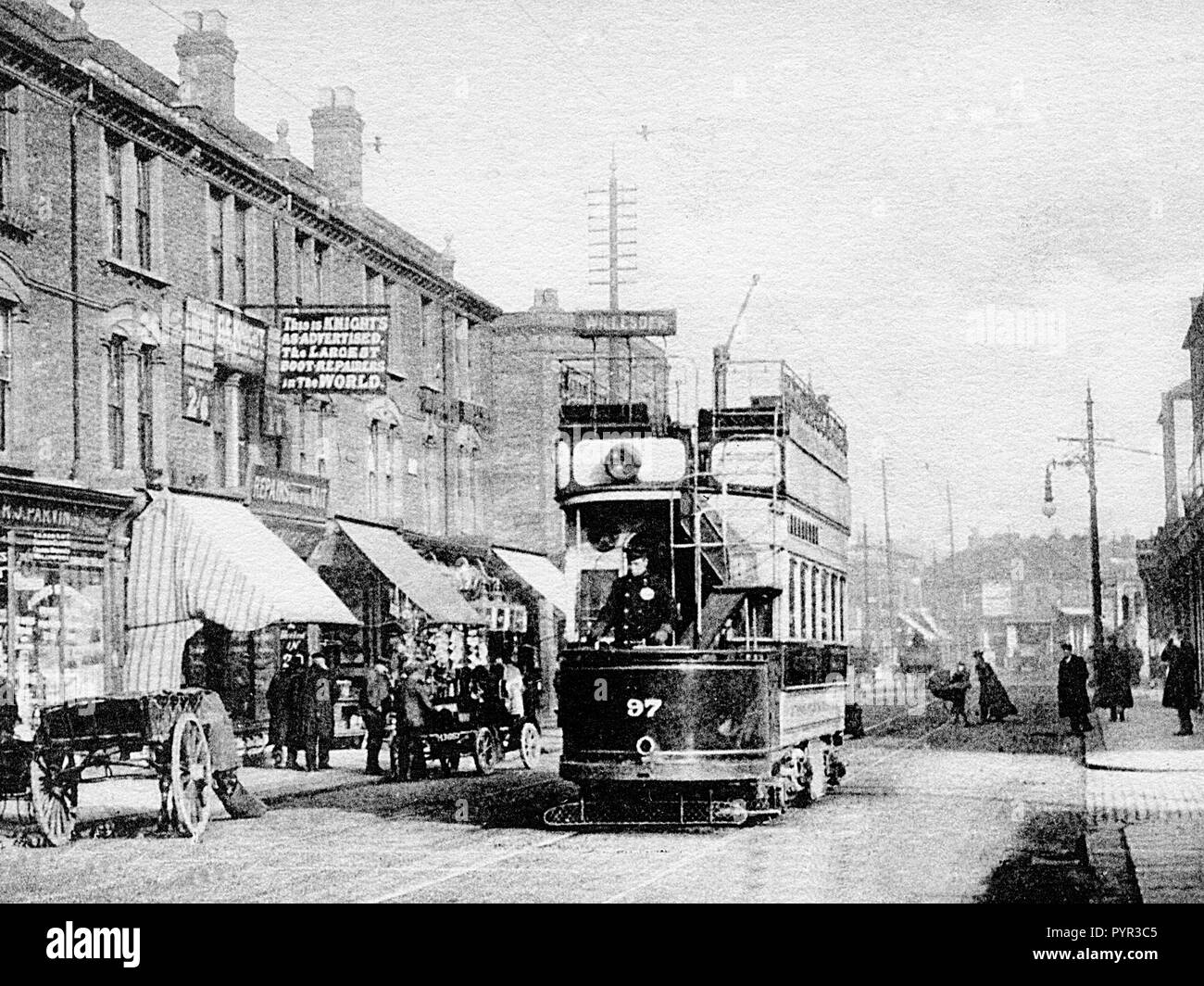 Church Road, Willesden early 1900's - Stock Image
