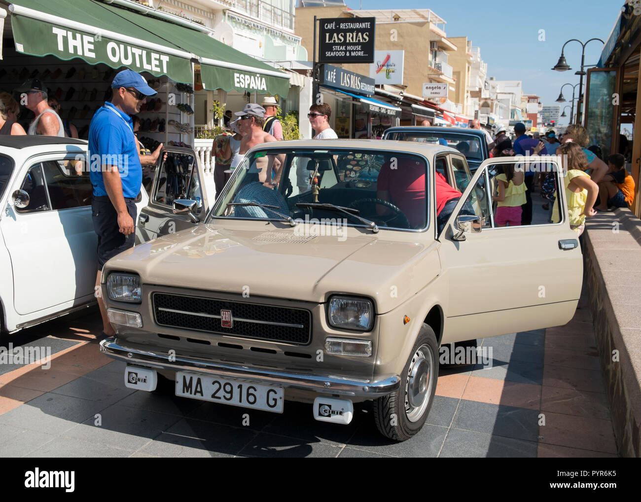 1976 Seat 127 903cc. Made in Spain under Fiat license. - Stock Image