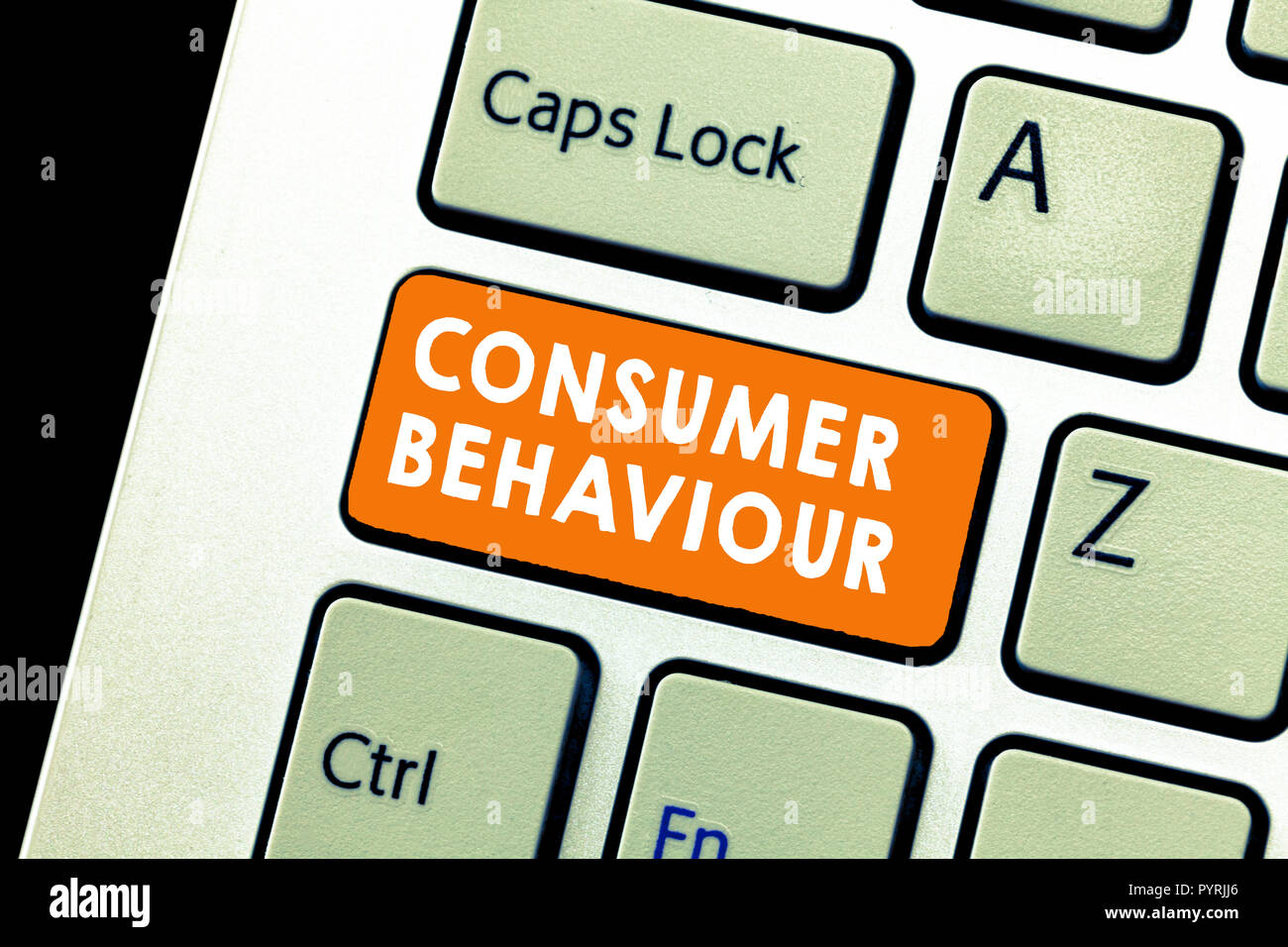 Text sign showing Consumer Behaviour. Conceptual photo Decisions that people make to buy or not to buy a product. Stock Photo