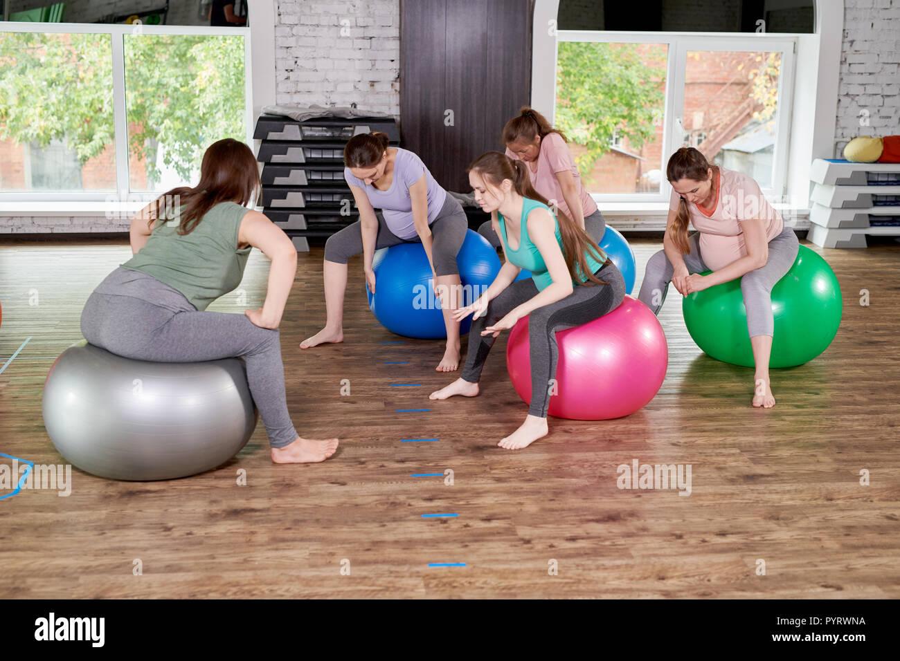Prenatal Fitness Class - Stock Image