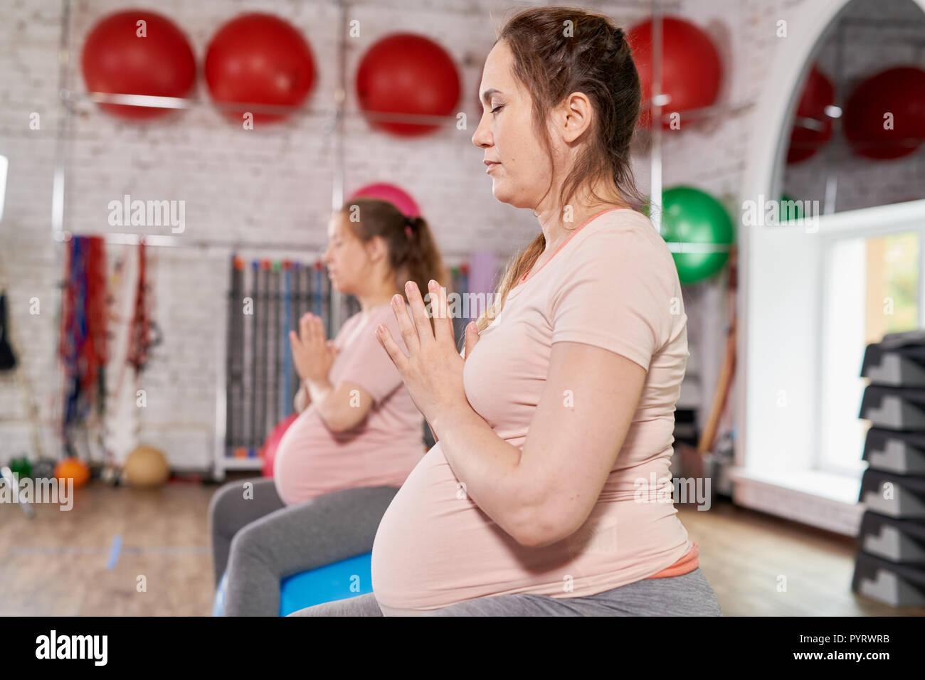 Prenatal Yoga - Stock Image