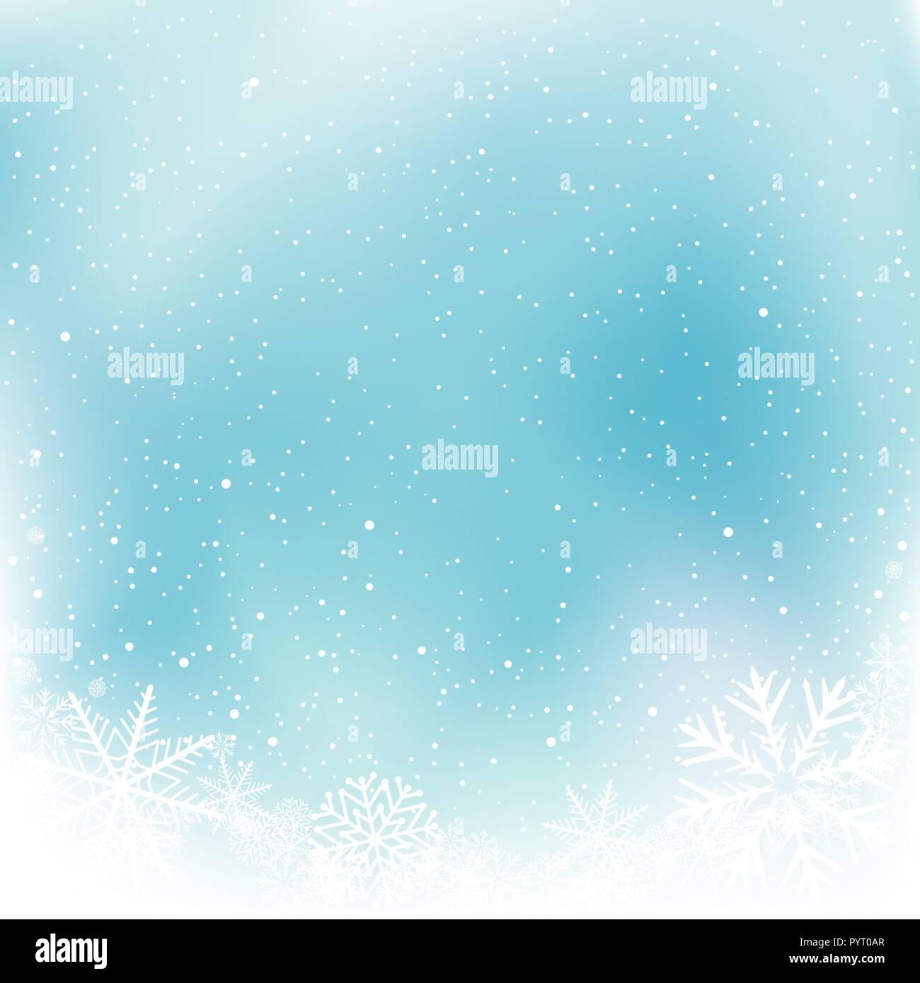 christmas blue snow winter template stock vector art illustration
