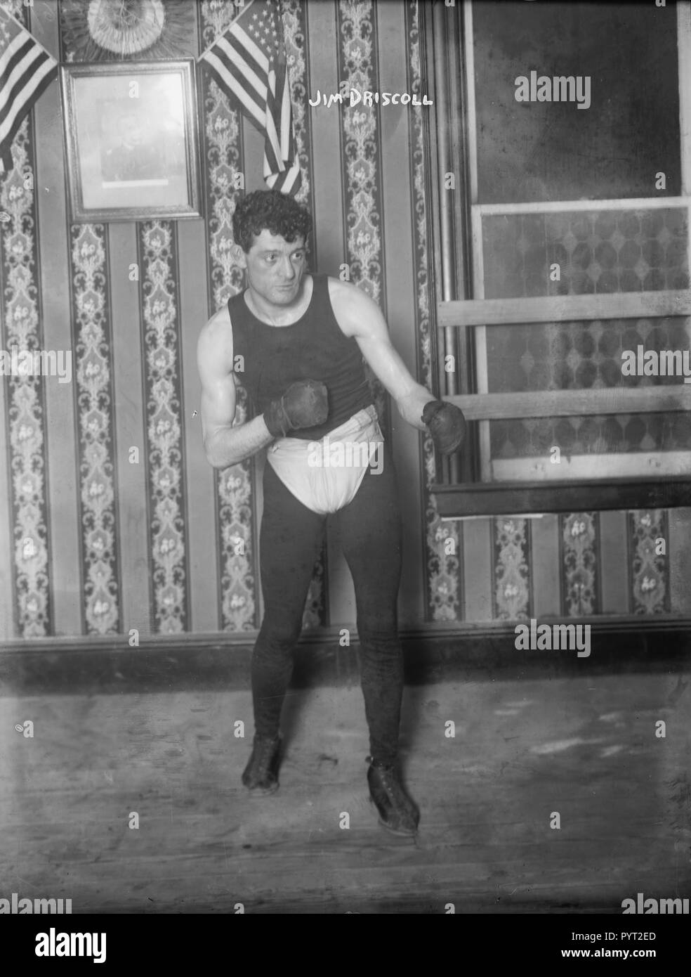 Peerless James Jim Driscoll (1880-1925) Boxer,  British Featherweight Champion born in Cardiff, Wales, UK, while on boxing tour in USA in 1908/1909. - Stock Image