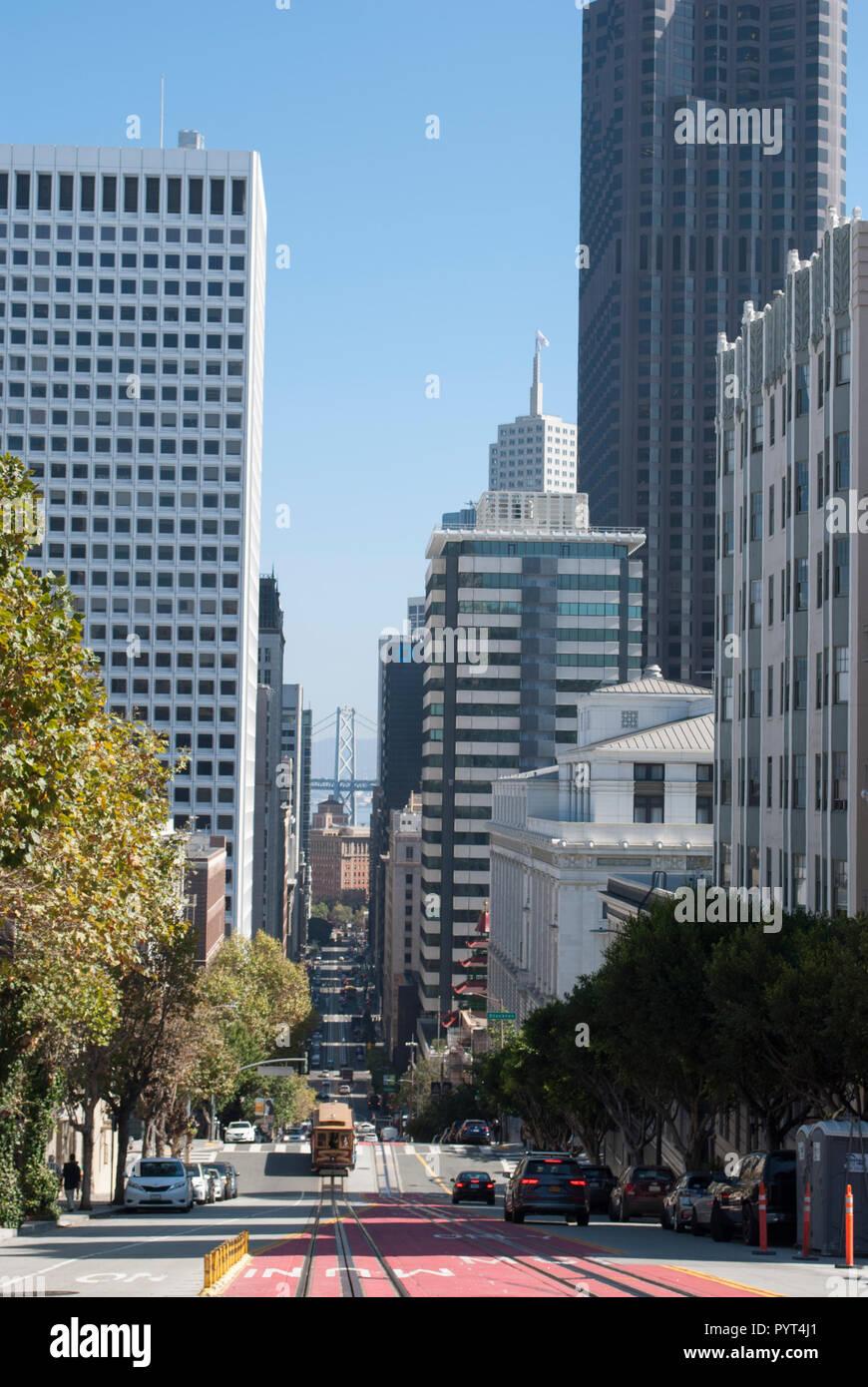 San Francisco downtown. Modern and retro architecture. Stock Photo