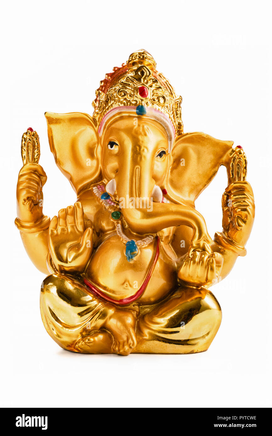 Gold Ganesha High Resolution Stock Photography And Images Alamy