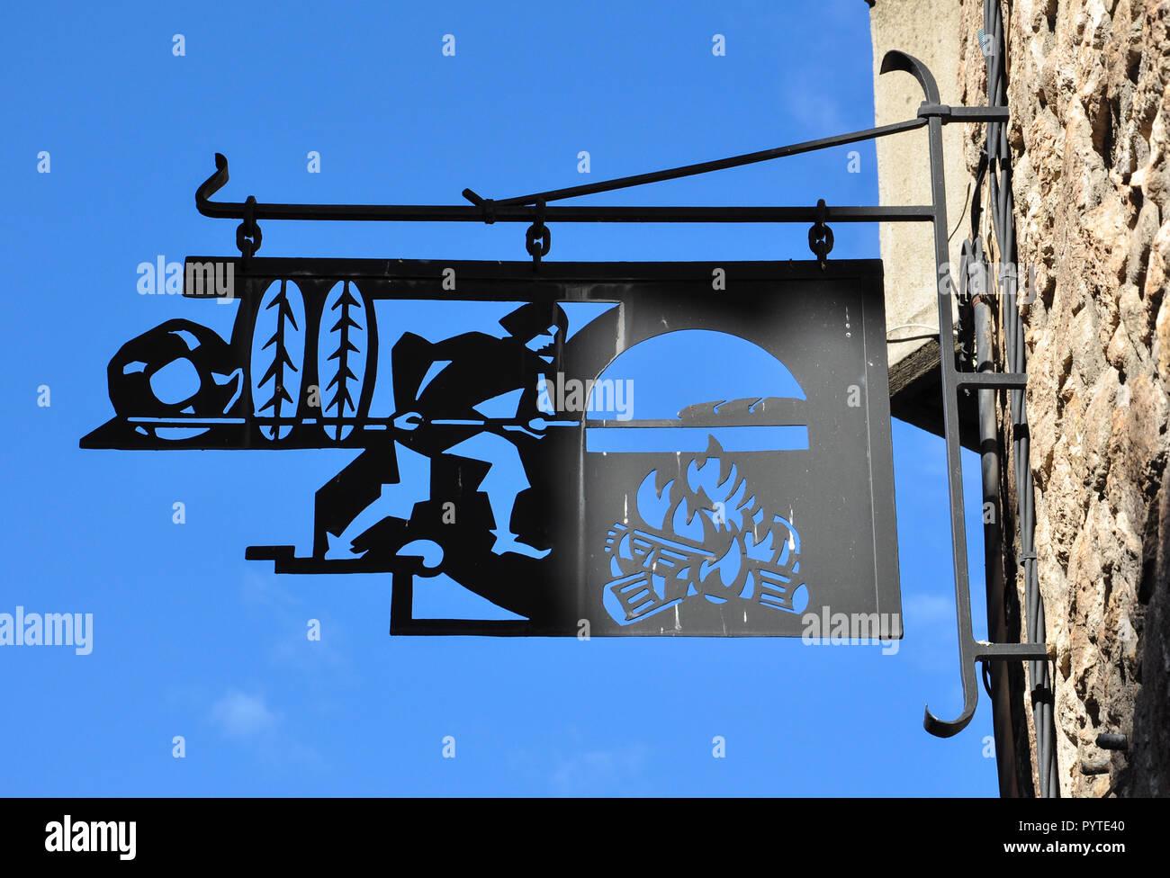 Villefranche-de-Conflent, Pyrenees-Orientales, Occitanie, France - Stock Image