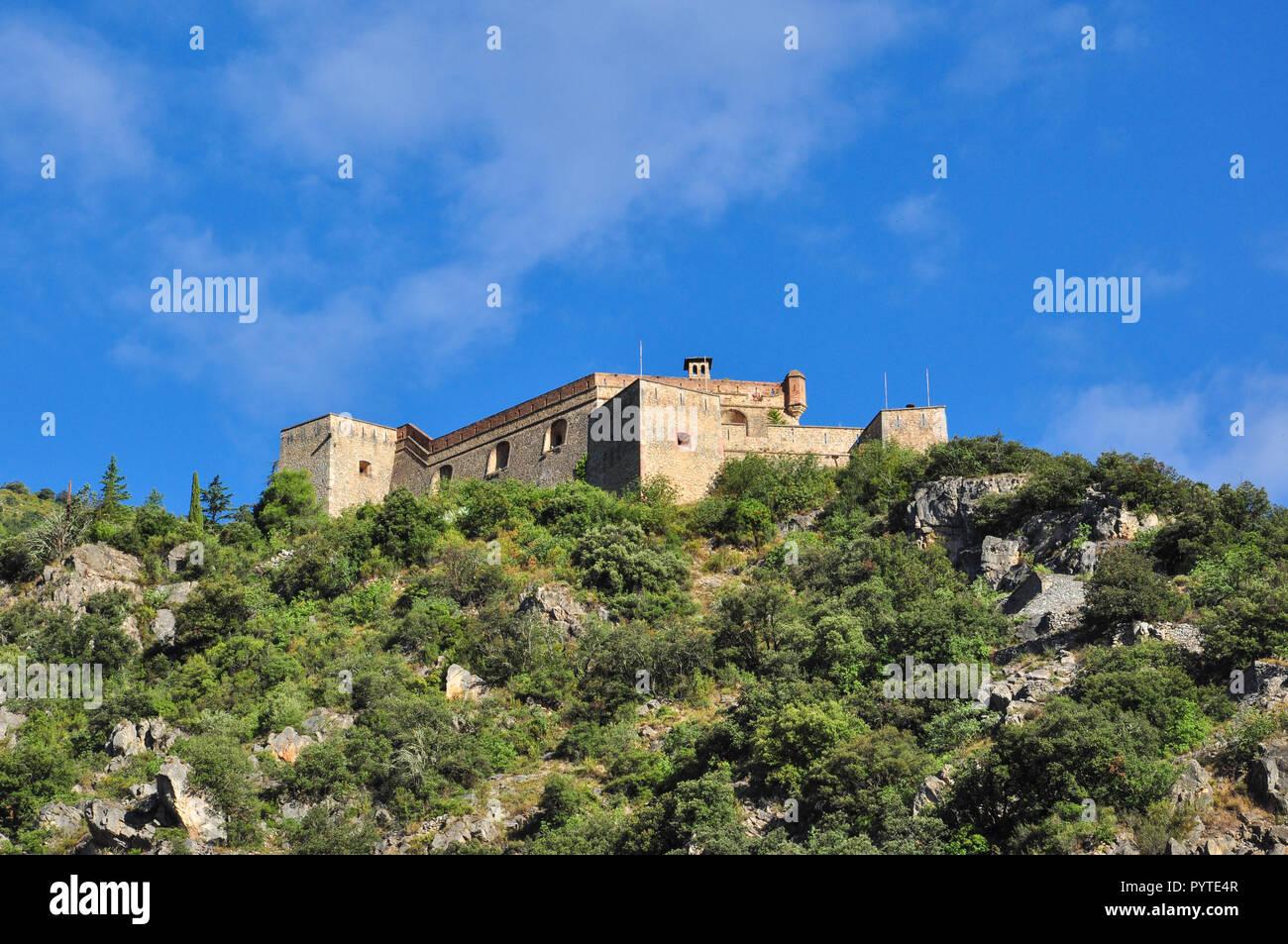 Fort Liberia, Villefranche-de-Conflent, Pyrenees-Orientales, Occitanie, France - Stock Image