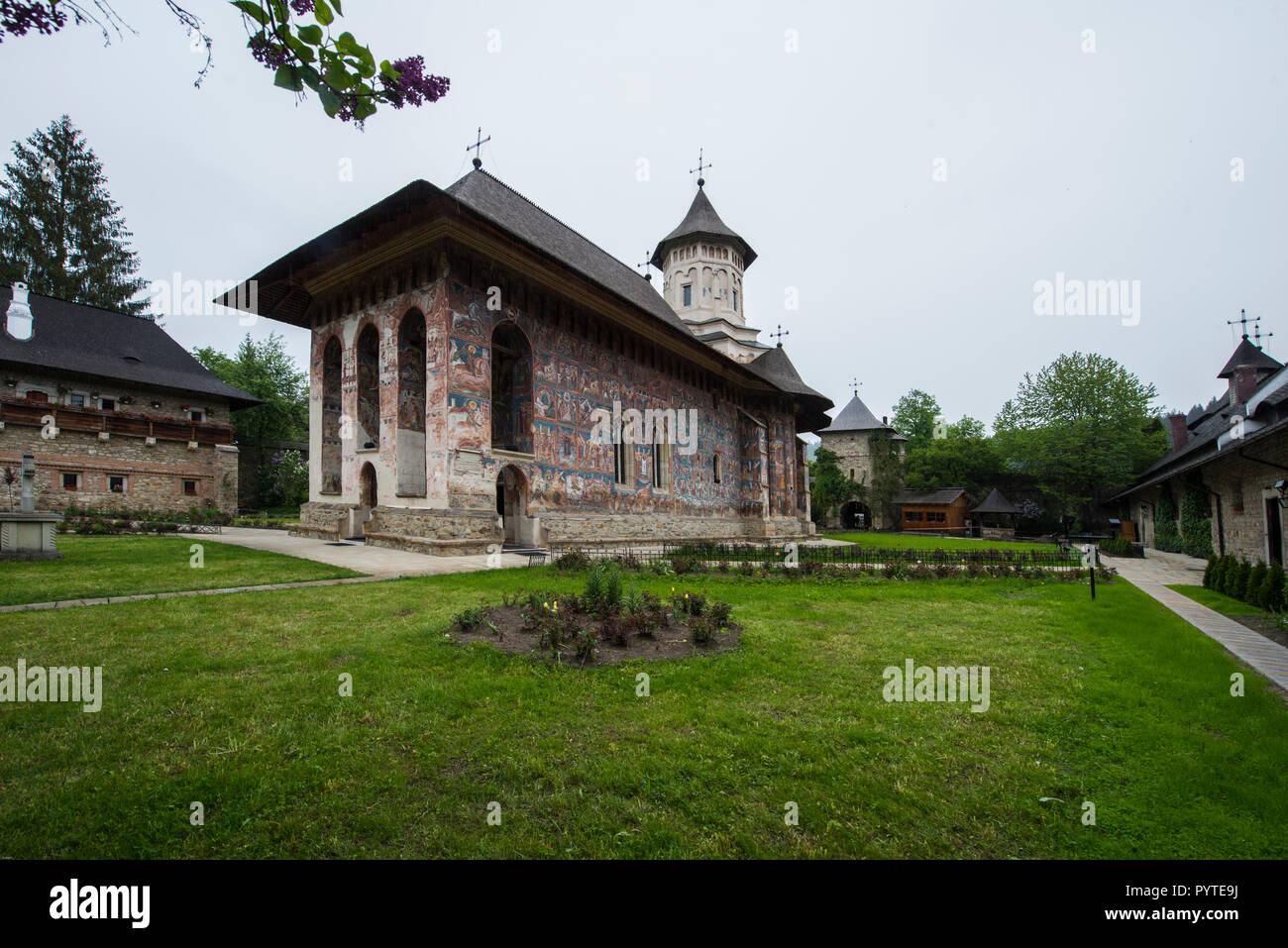ROMANIA, MOLDOVITA. The monastery belongs to the famous painted churches of Romania - Stock Image