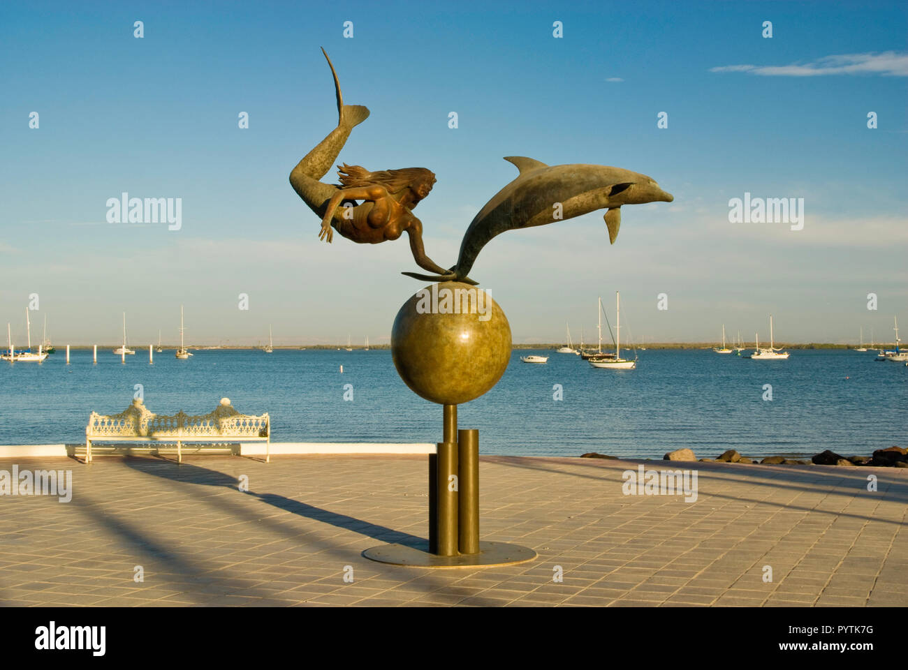 Paraiso del mar (Paradise of the Sea) sculpture by Octavio Gonzalez at Malecon, La Paz, Baja California Sur, Mexico Stock Photo