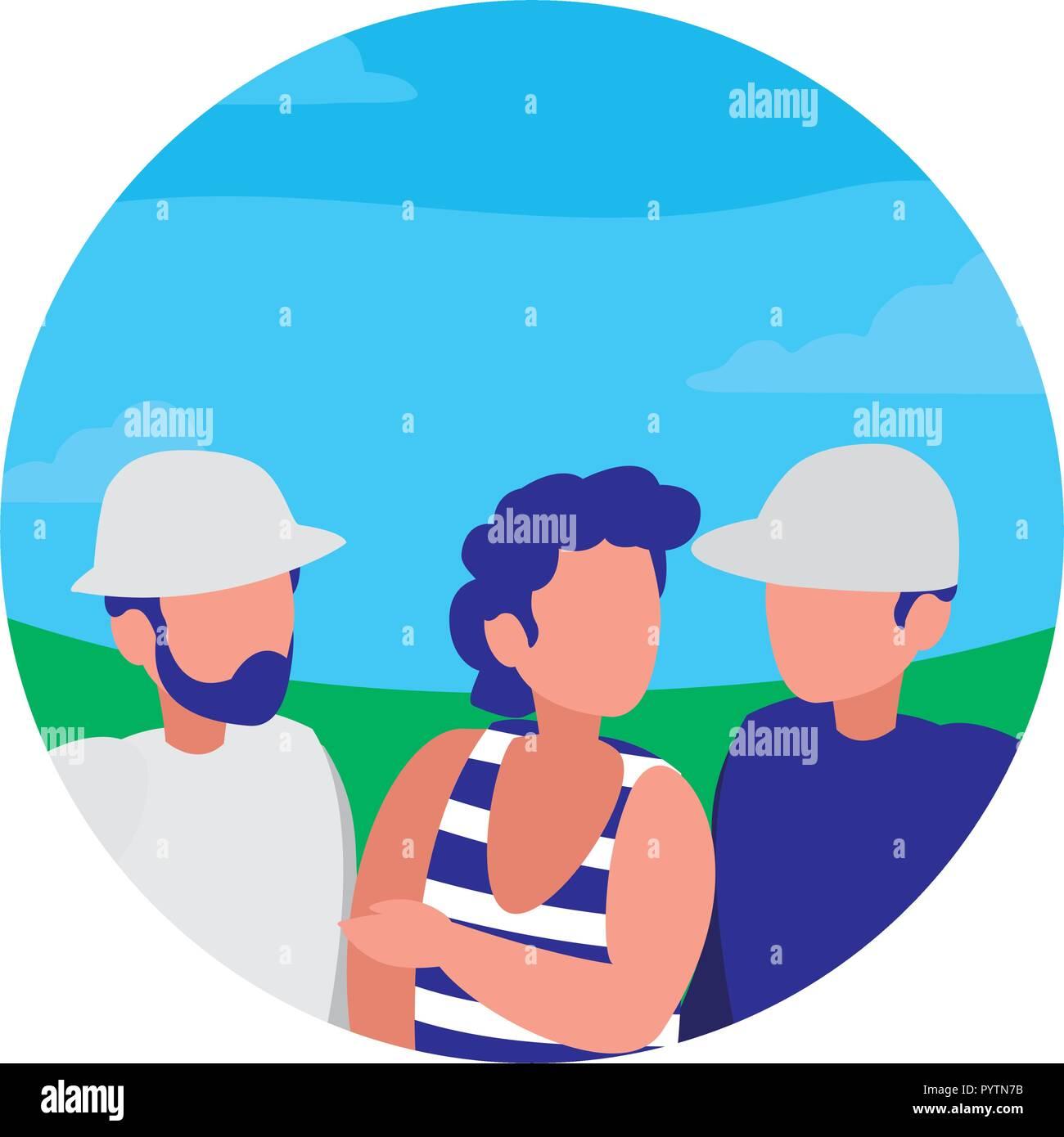 man with beach clothes vector illustration design - Stock Vector
