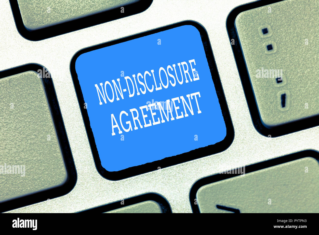 Text Sign Showing Non Disclosure Agreement Conceptual Photo Legal