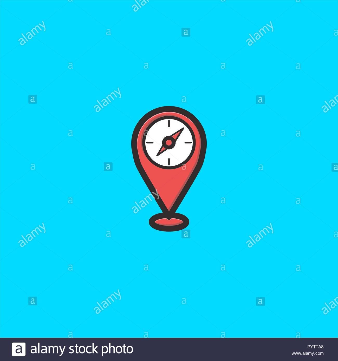 Maps And Compass Logo Design Inspiration Stock Photo 223666080 Alamy