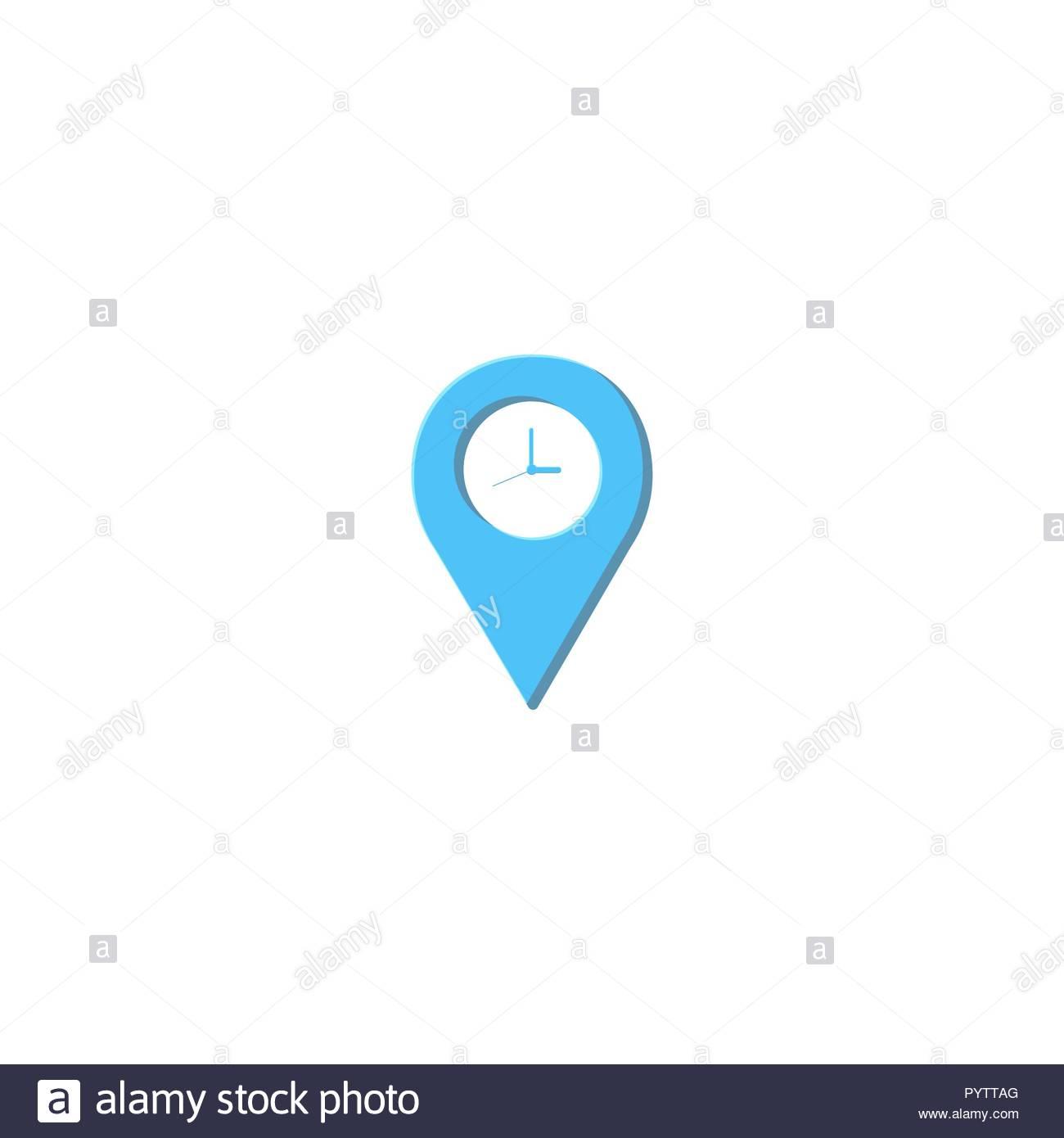 Maps And Clock Logo Design Inspiration Stock Photo 223666088 Alamy