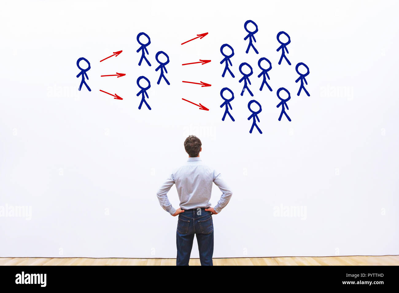viral content marketing, influencer concept - Stock Image