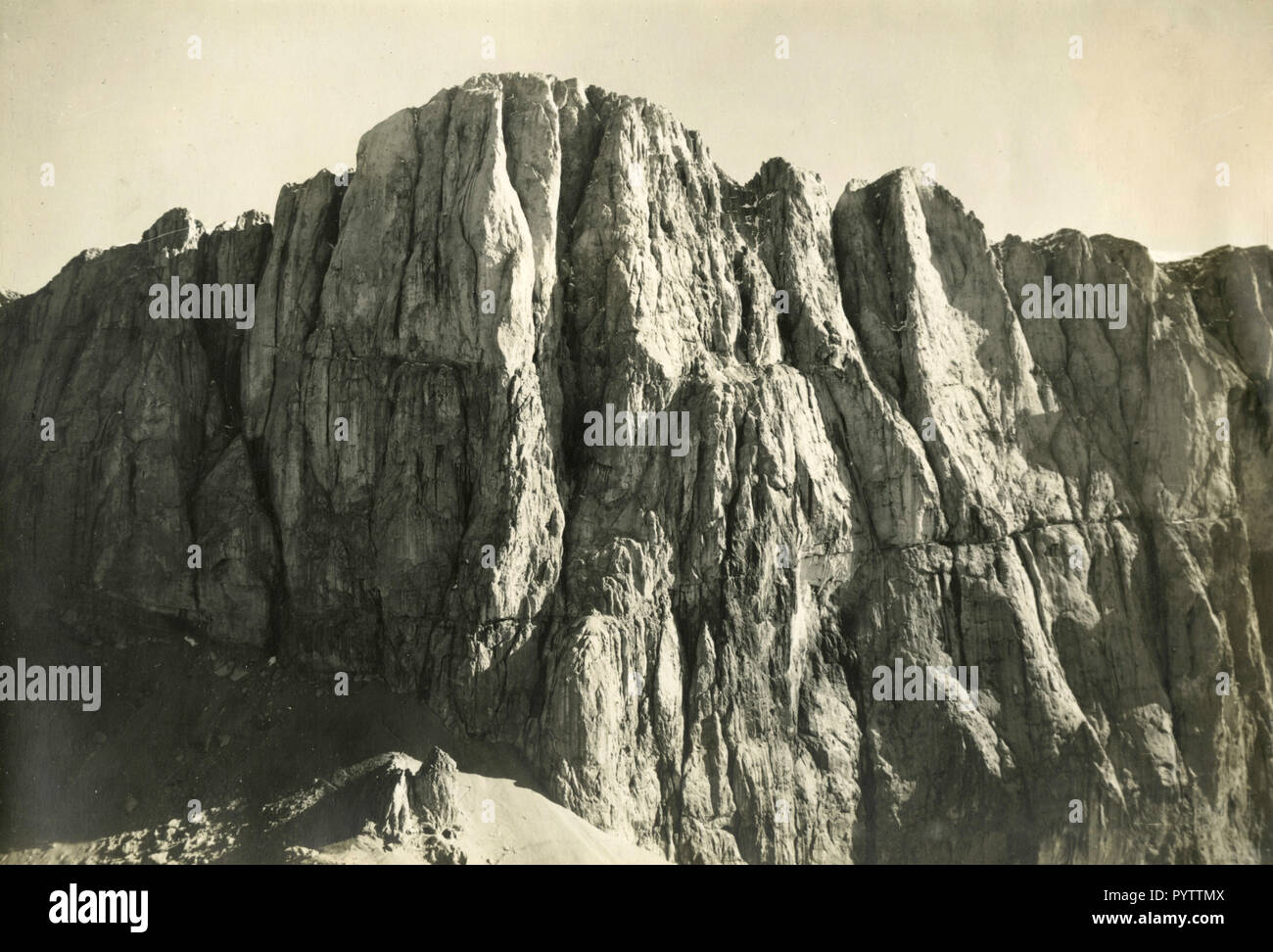 View of the South face of Marmolada mountain, Italy 1930s - Stock Image