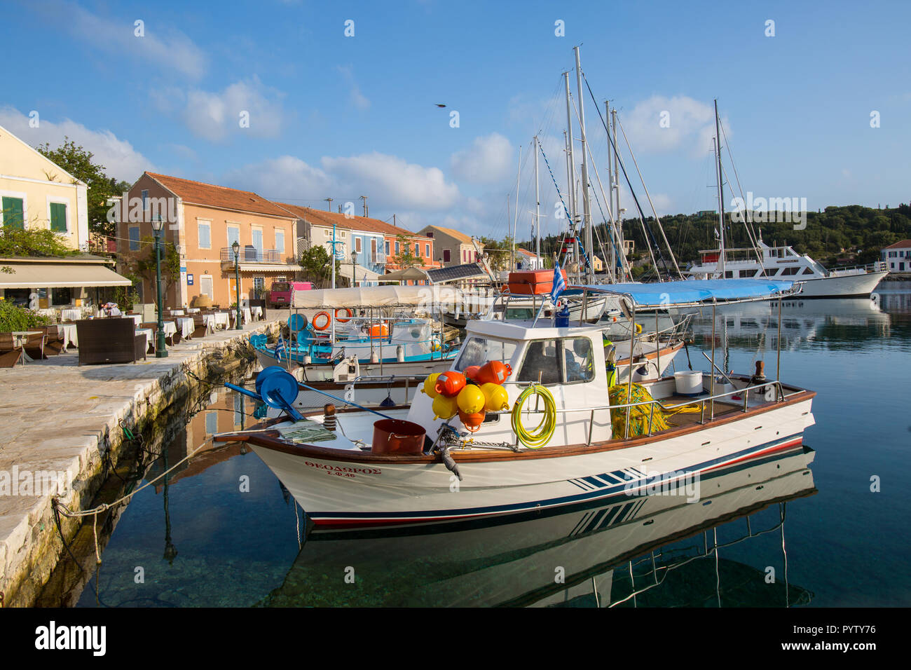 Fishing boat at the harbour - Stock Image