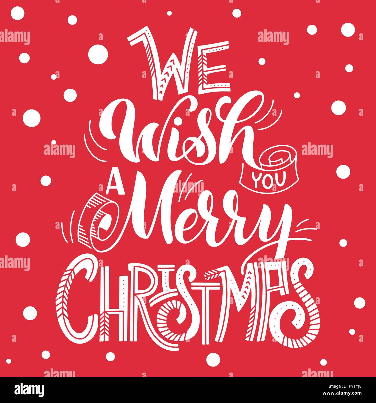 We wish you a Merry Christmas. Elements for invitations, posters ...