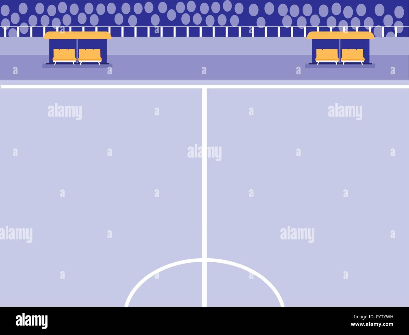 football soccer stadium scene vector illustration design - Stock Vector