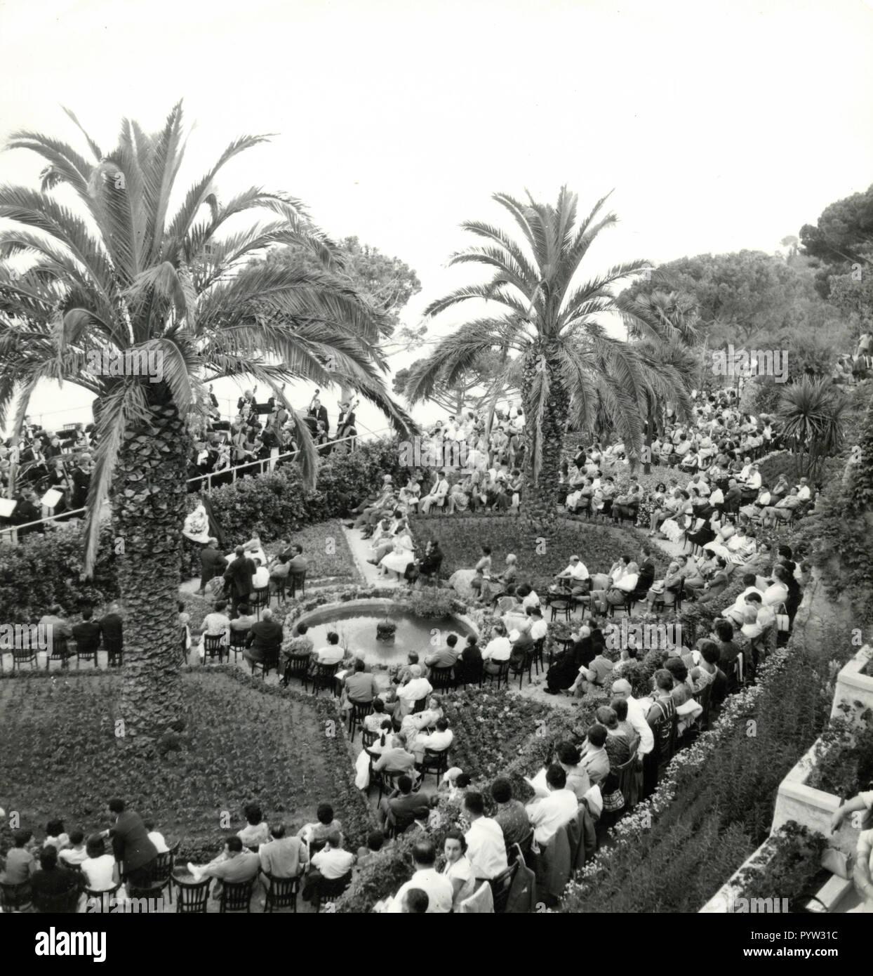Wagnerian concerts at Villa Rufolo, Ravello, Italy 1960s - Stock Image
