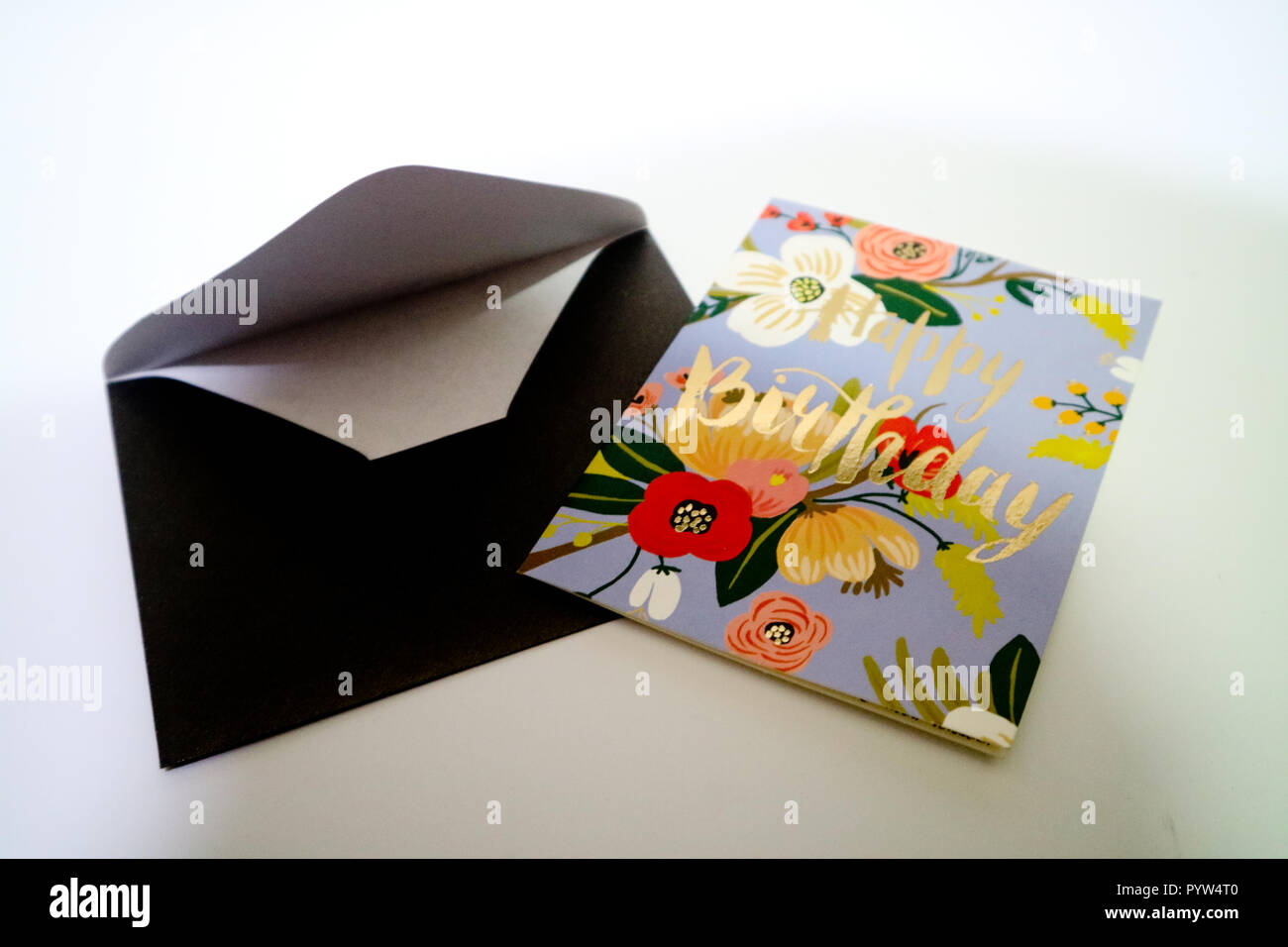 birthday greeting card - Stock Image