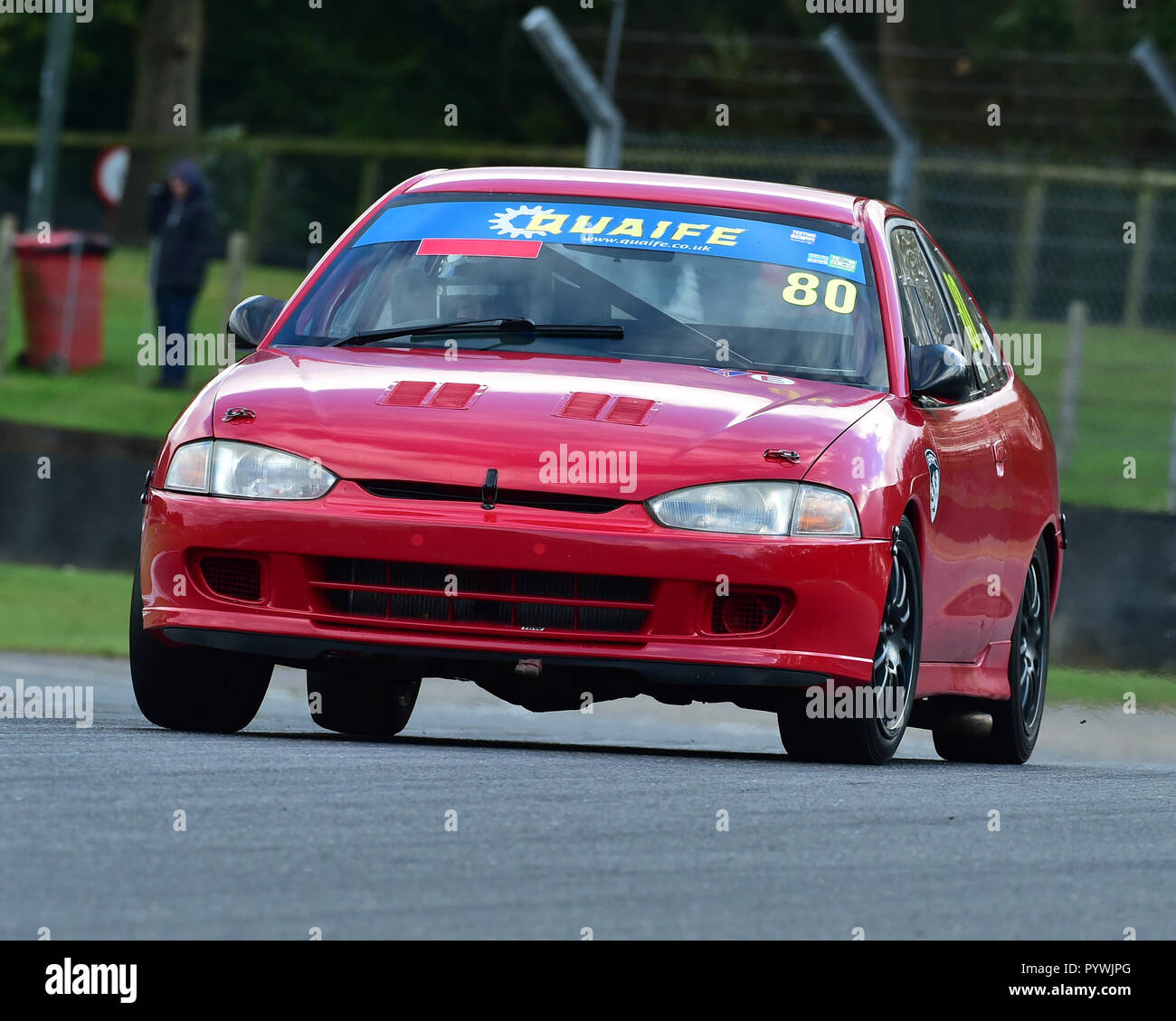 Gideon September, Mitsubishi Mirage, SE Tin Tops Championship, BARC, British Automobile Racing Club, National Championship, Brands Hatch, October 2018 - Stock Image