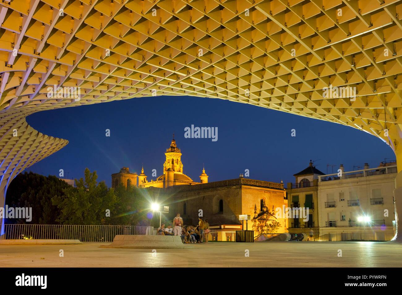 Metropol Parasol in La Encarnacion Square, Seville, Spain - Stock Image