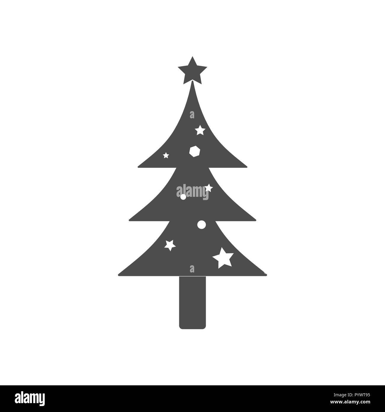 Christmas Tree Icon.Christmas Tree Icon Vector Illustrations Flat Design Stock