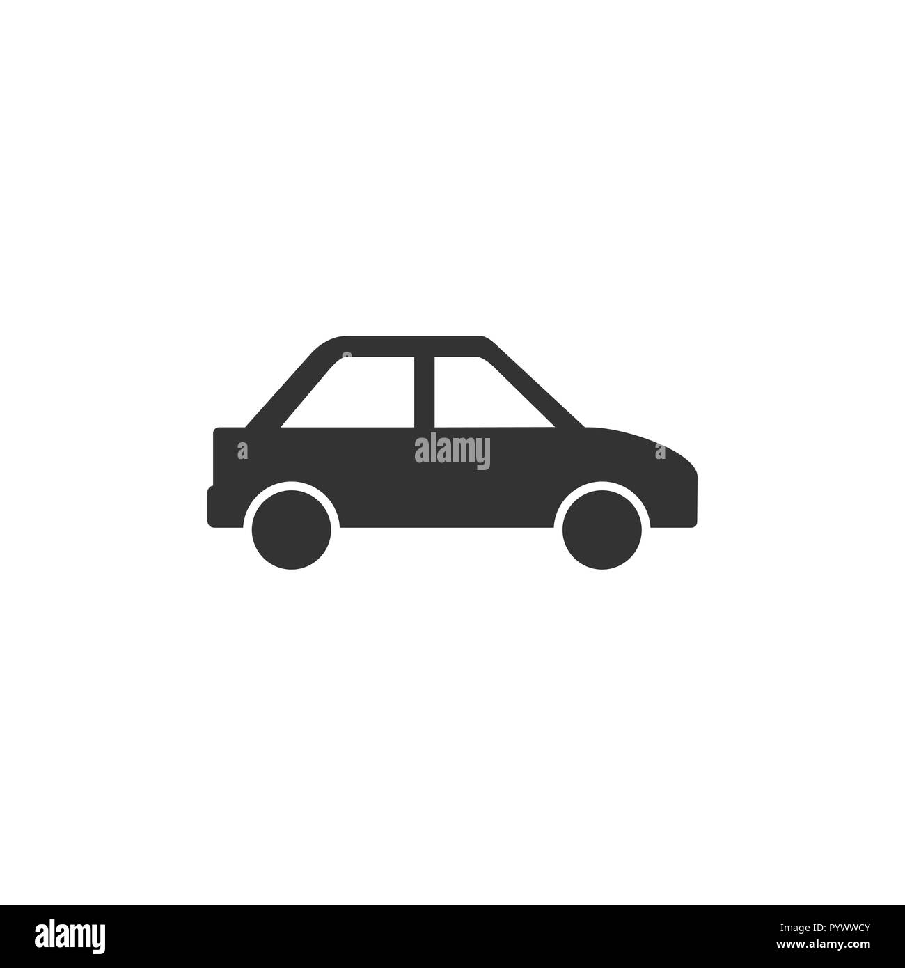 Car icon. Vector illustrations. Flat design graphic. - Stock Image