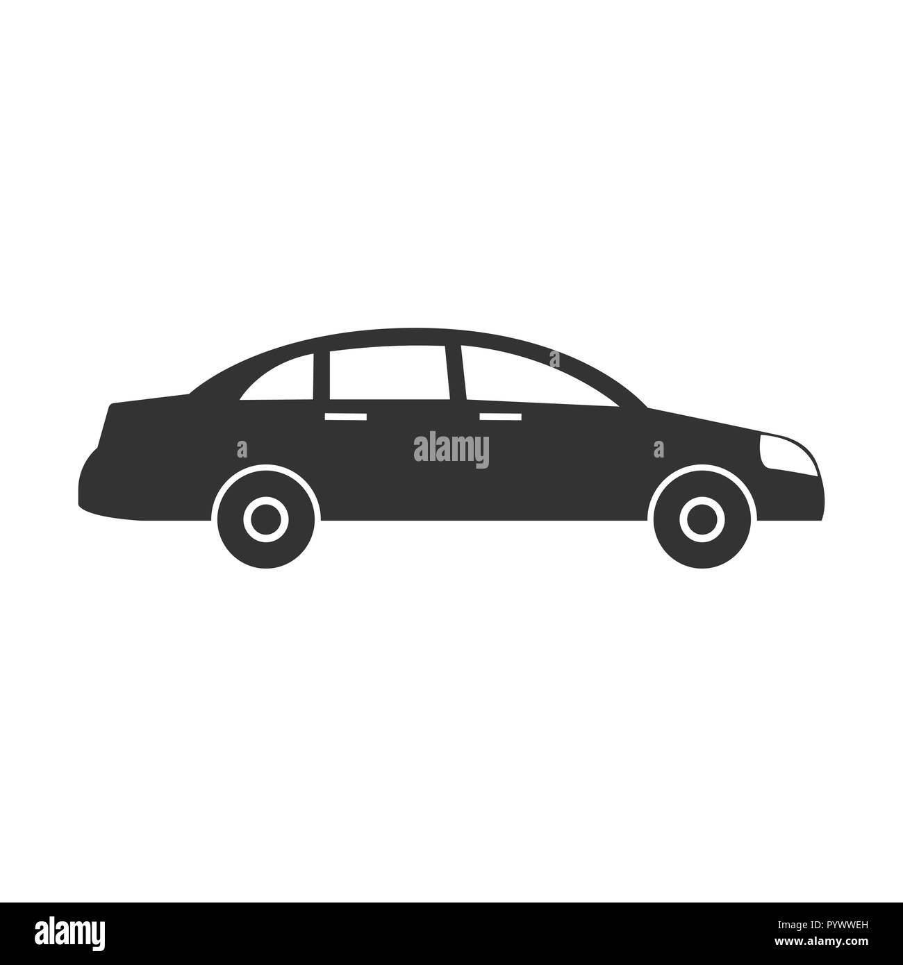 Car icon. Vector illustrations. Flat design graphic. - Stock Image