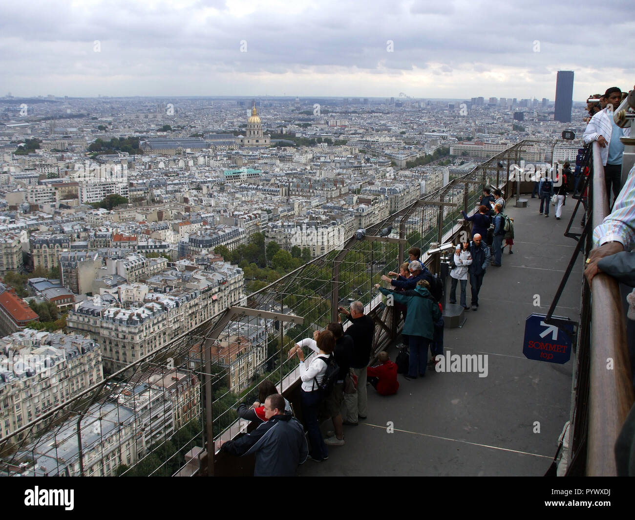 A view of the city of Paris taken from the Eiffel tower in Paris