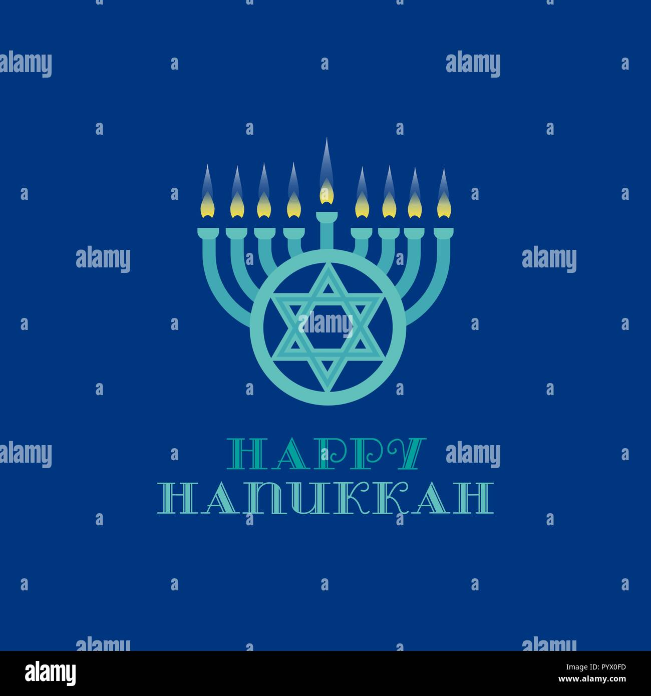 Happy Hanukkah holiday - Stock Vector