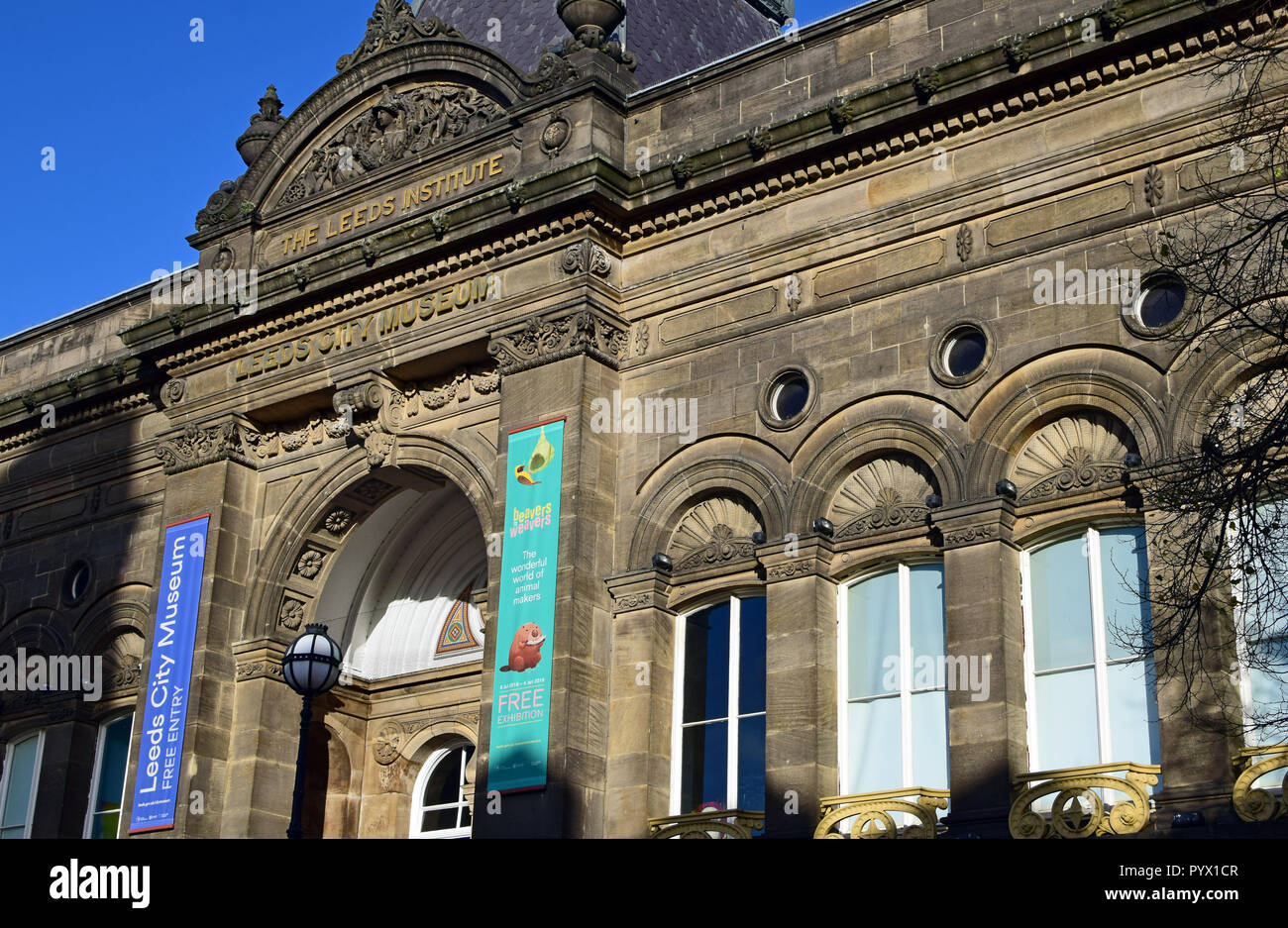 Leeds City Museum, The Leeds Institute, West Yorkshire, UK - Stock Image