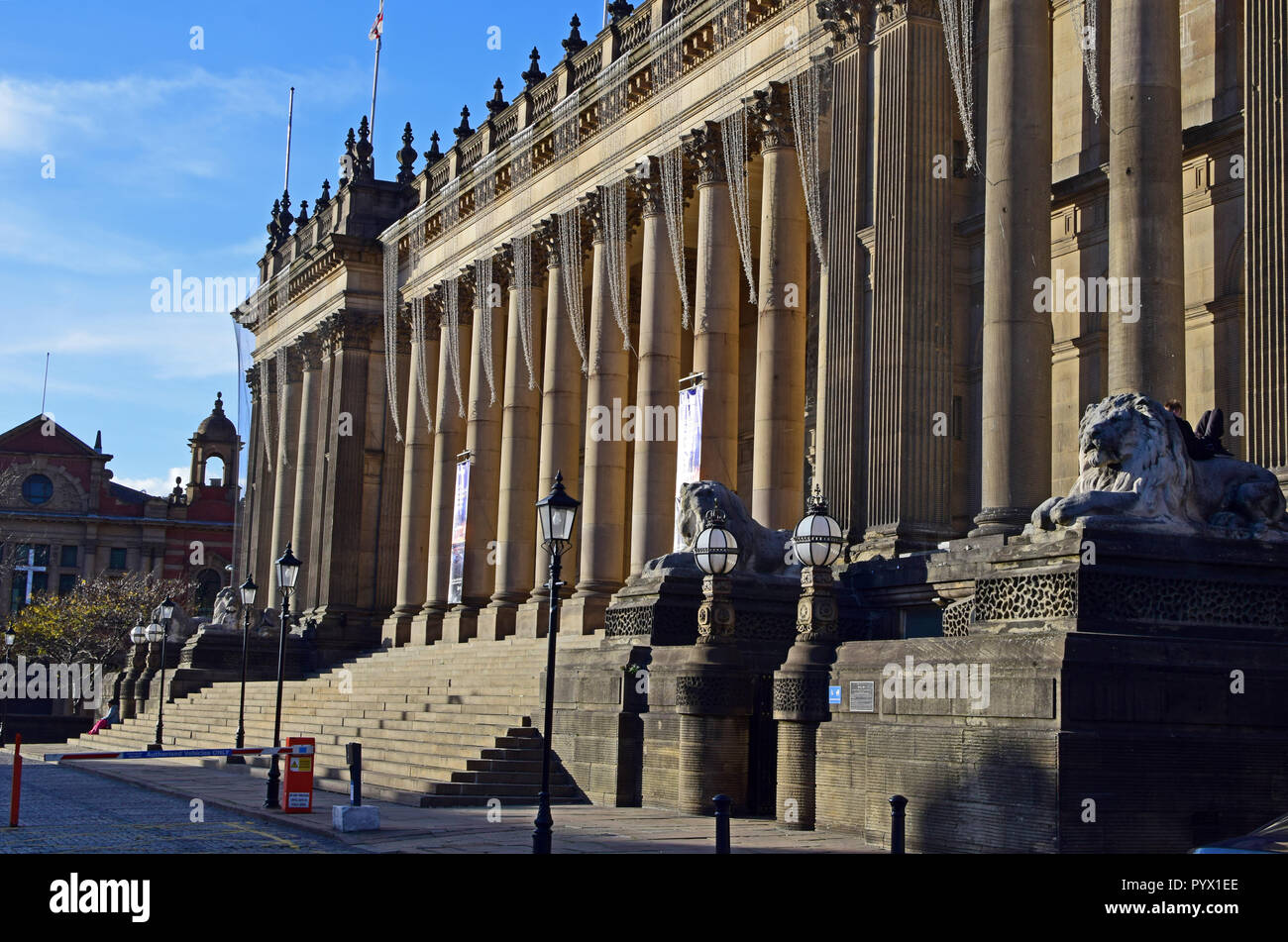 Leeds city town hall, West Yorkshire - Stock Image