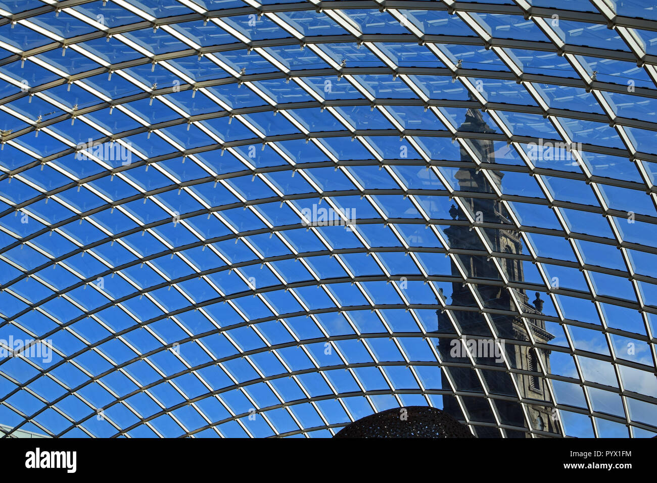 Roof of Trinity Leeds shopping centre, West Yorkshire - Stock Image