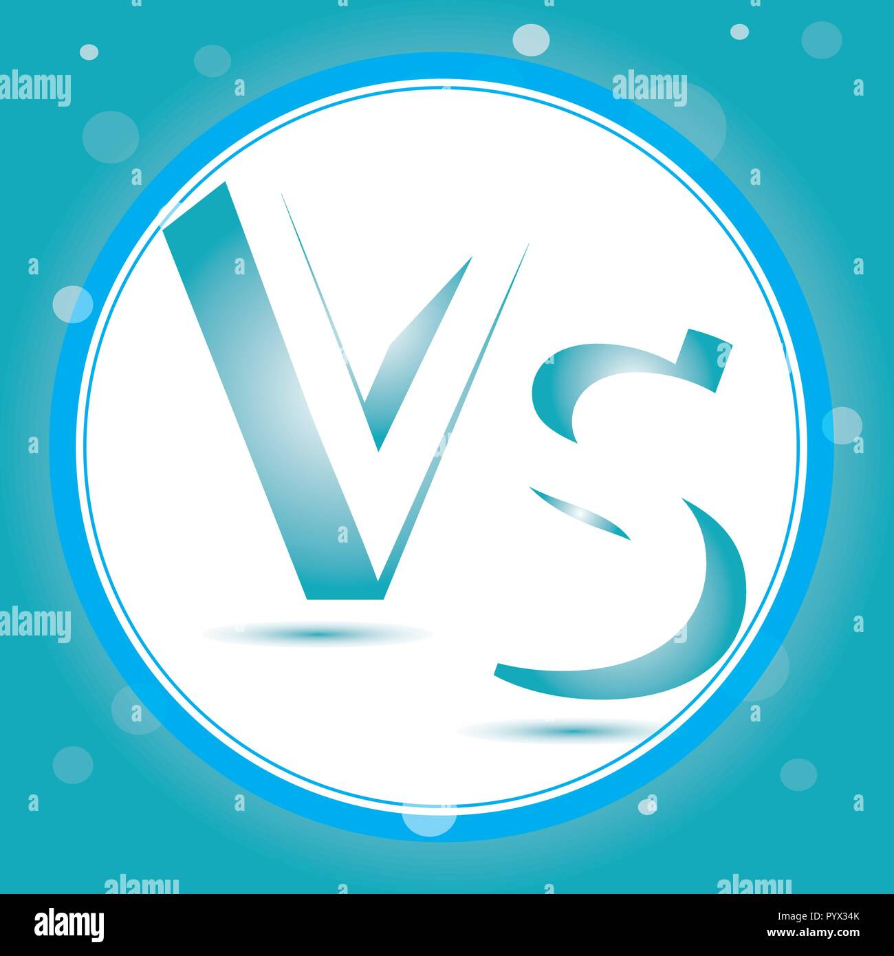 Versus Logo. VS Vector Letters Illustration. Competition Icon. Fight Symbol - Stock Vector