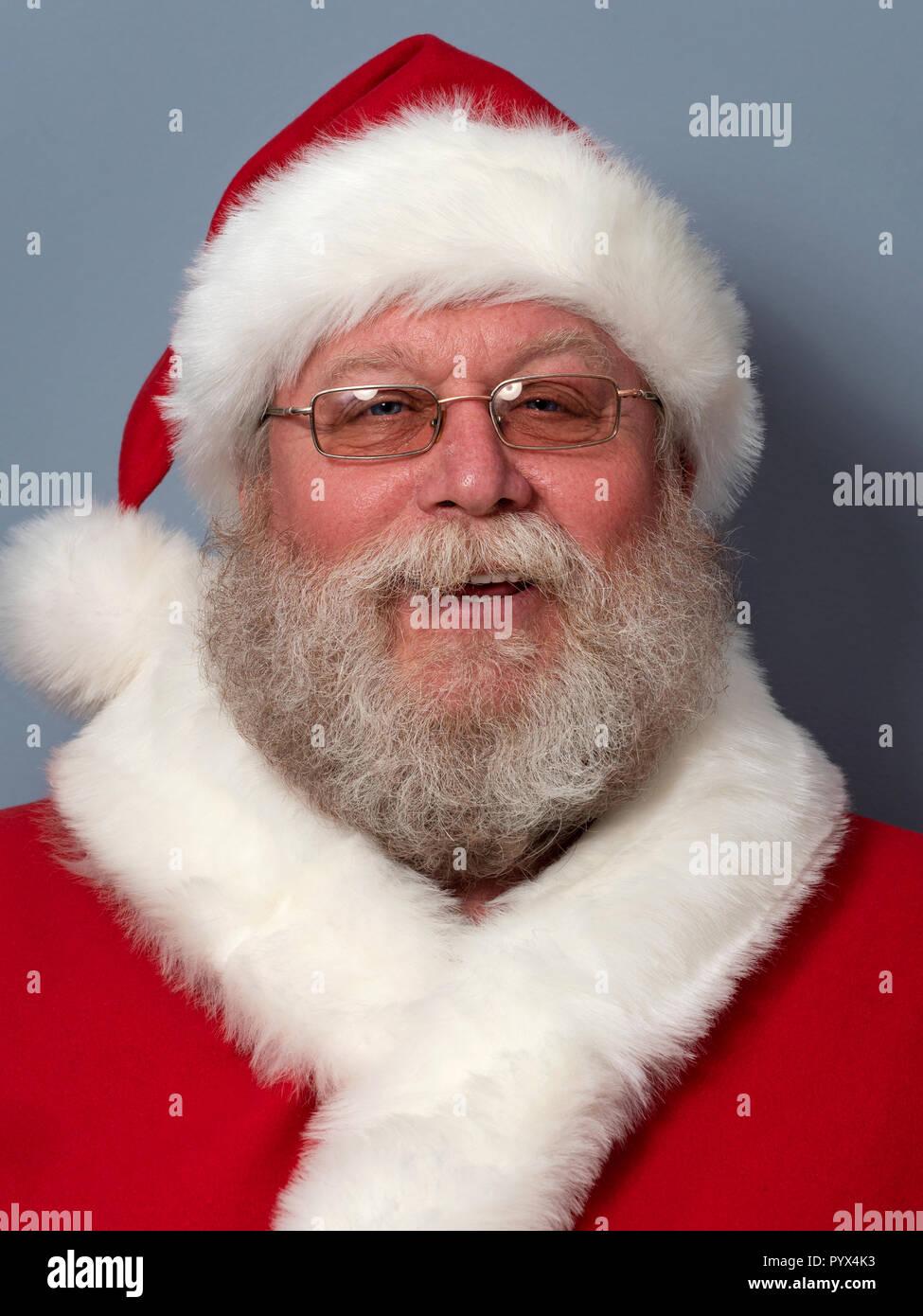 Portrait of happy Santa Claus Stock Photo