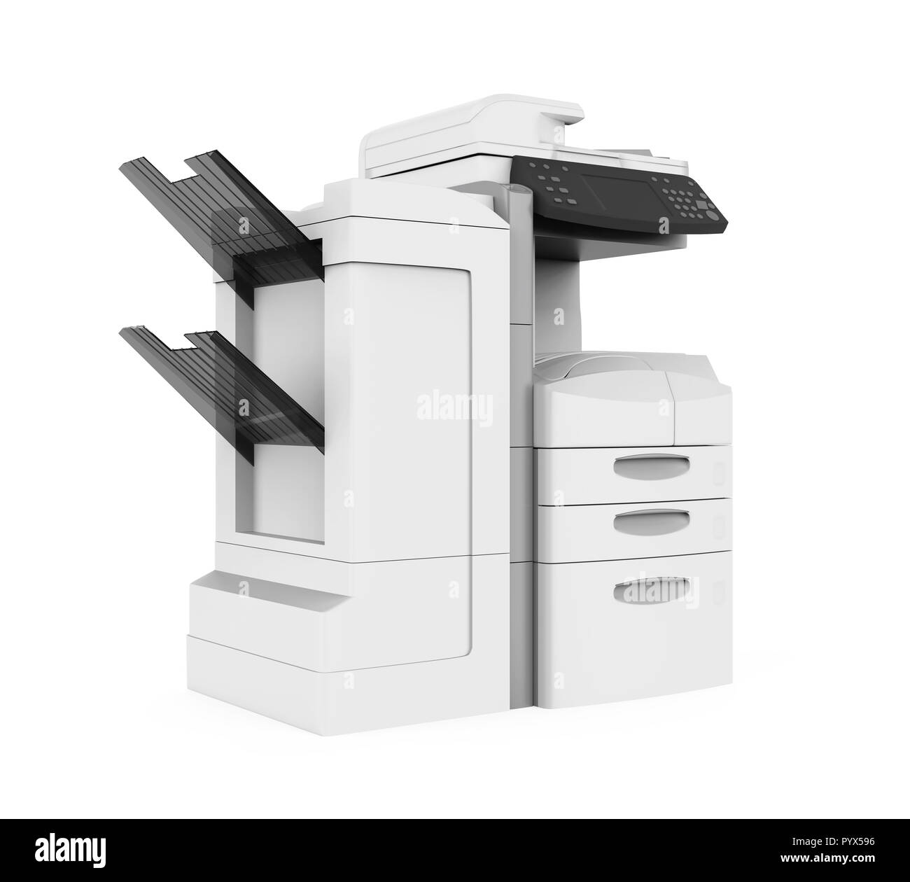 Office Multifunction Printer Isolated - Stock Image