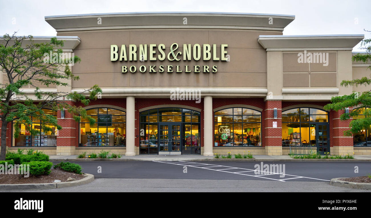 Barnes & Noble Booksellers retail store, Ithaca NY, in New York's Finger Lakes region, USA - Stock Image