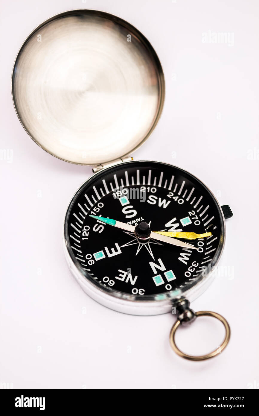 A magnetic compass indication the right direction of the earth's north pole - Stock Image