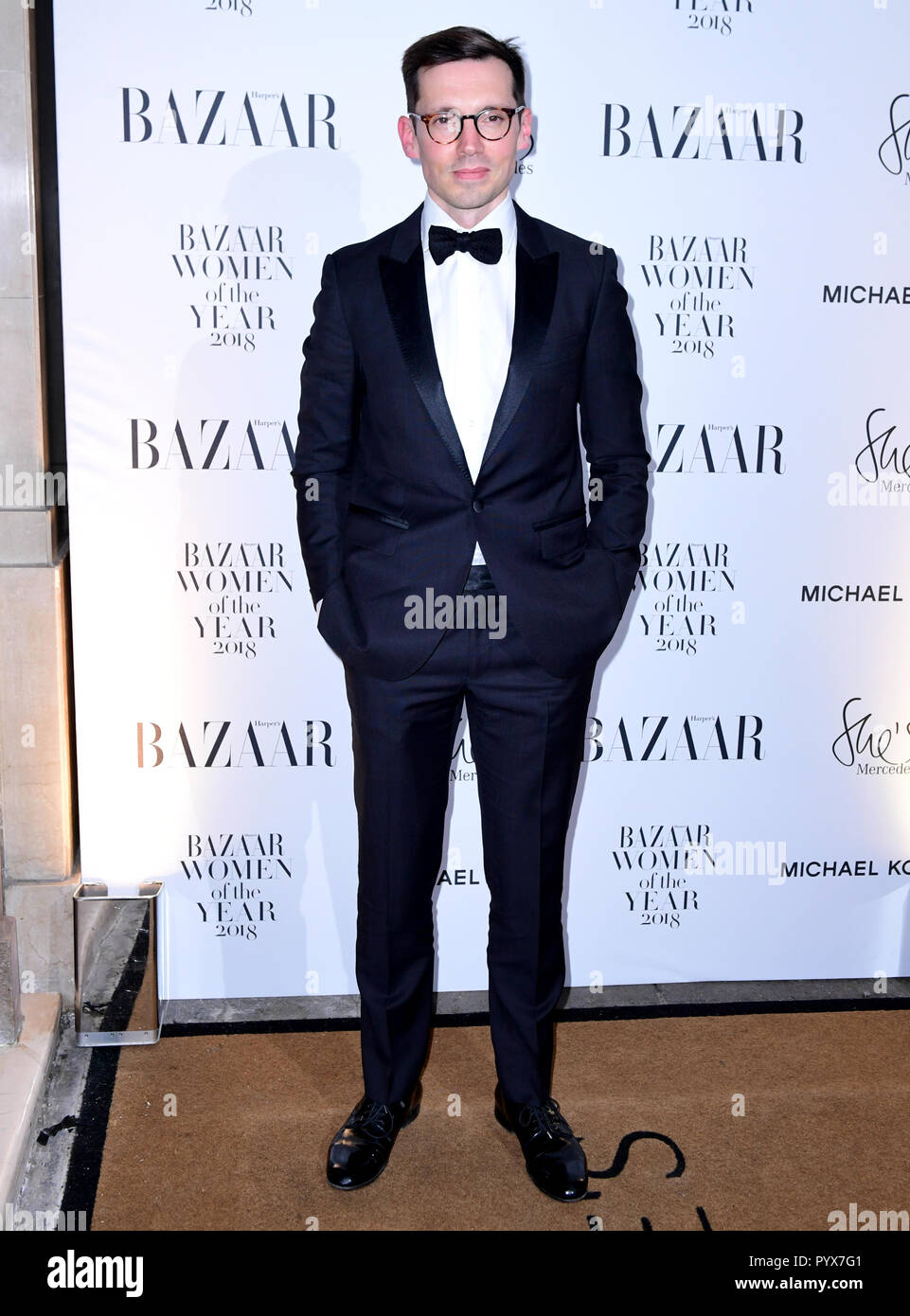 Erdem Moralioglu attending the Harper's Bazaar Women of the Year Awards 2018 held at Claridges, London. - Stock Image