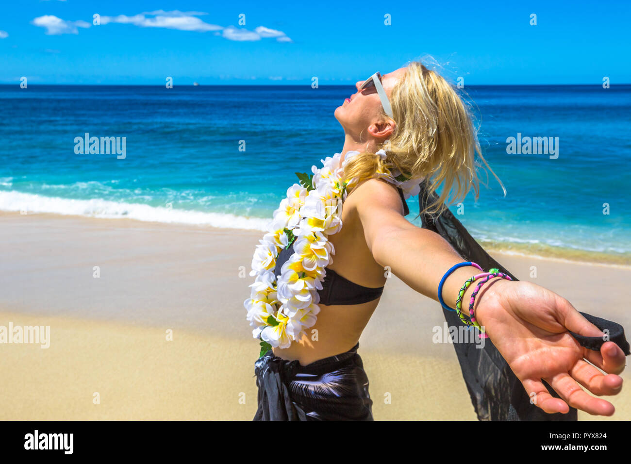 eb4b3dc82a0 Hawaiian Tropic Girl Stock Photos   Hawaiian Tropic Girl Stock ...