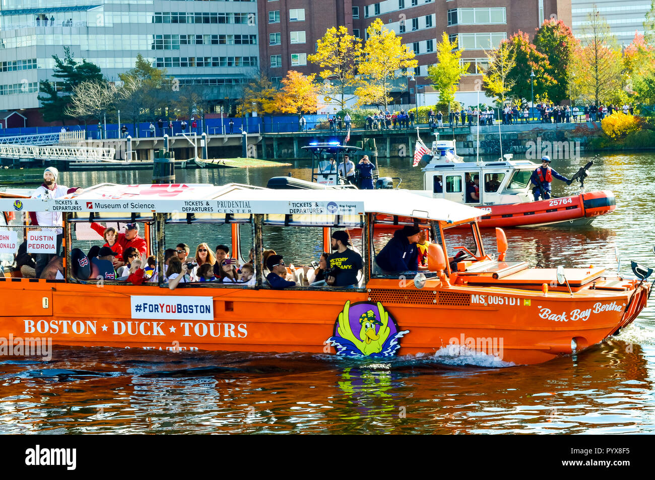 2013 World Series Champions Red Sox Duck Boat Parade Stock Photo