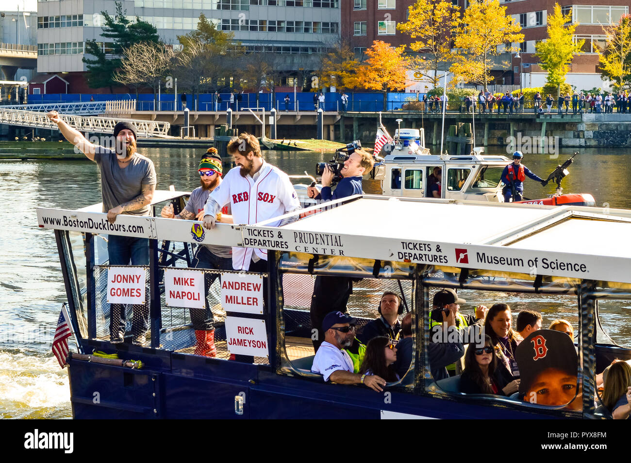 2013 World Series Champions Red Sox Duck Boat Parade Stock