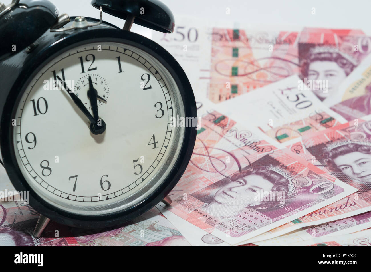 UK currency, 50 pounds Stock Photo