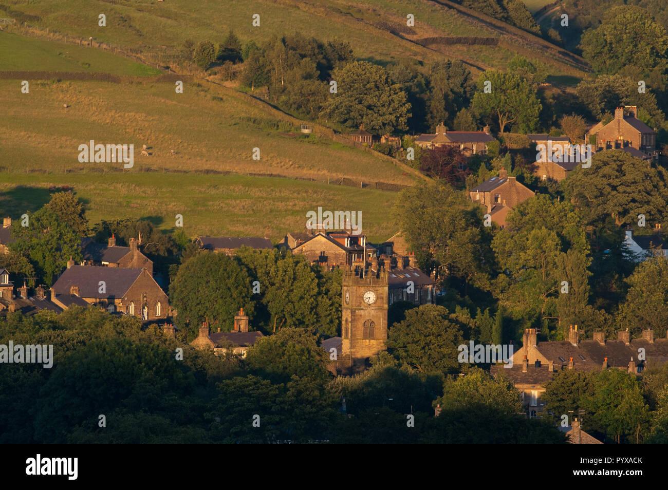 Hayfield village - Stock Image