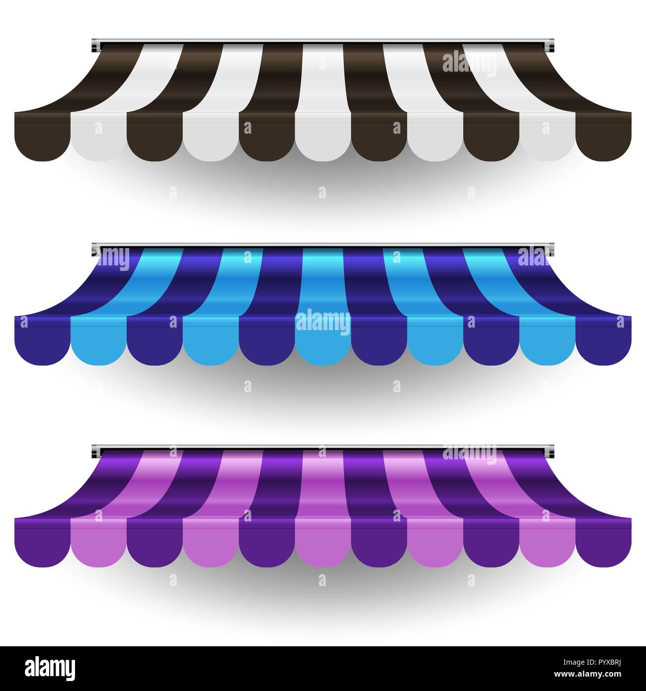 Blue Striped Awning Stock Photos Amp Blue Striped Awning
